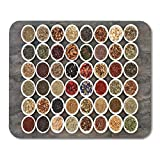 Mouse Pads Ginseng Large Herb Tea Sampler in White China Bowls Mouse Pad