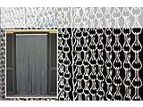 Aluminium Moskitonetz Türvorhänge - Türvorhang Modell CATENA - Anpassbare oder Eichmaß 80X200 / 90X200 / 95X200 / 100X220 / 120X230 / 130X240 / 150X250 - Fliegenvorhang - Kunststoff - Vorhänge - Made in Italy - Für weitere Informationen wenden Sie sich bitte an den Hersteller. Suche