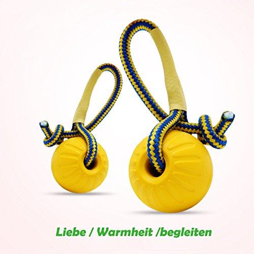 SANDAFI Hunde Spielzeug Ball mit Seil,Wasserdicht Hunde Ball für kleine und Grosse Hunde,kann mitschwimmen (2 Pack) (Ball In Einem Ball Hund Spielzeug)