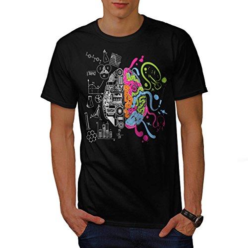 gehirn-wissenschaft-intelligent-geek-meister-herren-schwarz-l-t-shirt-wellcoda