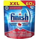 Finish Calgonit Plus, tout en 1tablettes lave-vaisselle, XXL Pack de 60tablettes