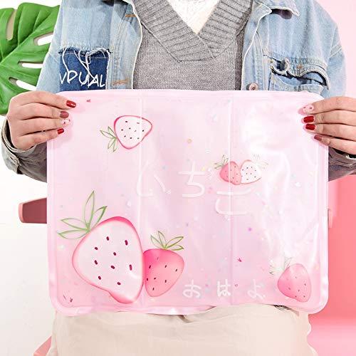 WMING Home Kühler (6 ° C) Rosa Cartoon Form Gel Sitzkissen-45 * 32 cm Kissen für Büro, Heim, Auto, Rollstuhl (Size : A)