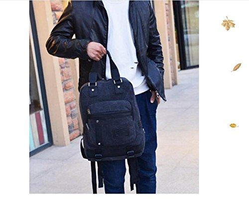 Männer Multifunktionsreisecomputer Rucksack Persönlichkeit Tasche Waschbar Baumwollstofftaschen blue