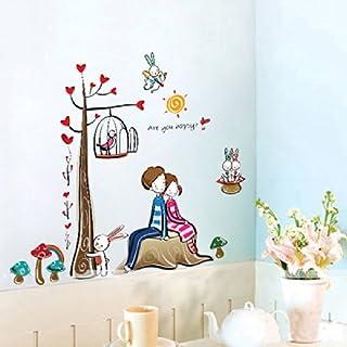 ablegrow (TM) Romantische Liebhaber Baum Wand Sticker Decor Aufkleber Zimmer Aufkleber ADESIVO de parede Aufkleber 2014Abnehmbare DIY Home Dekoration