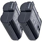 TOP-MAX® 2X EN-EL15 Batería para Nikon 1 V1 D7200 D7100 D750 D600 D7000 D810 D610 D750 D800E D810A D800