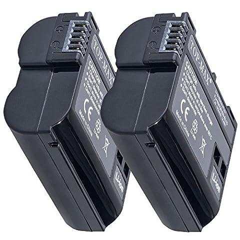 TOP-MAX® 2X Batterie/akku für Nikon EN-EL15 ENEL15(1950mAh),Nikon 1 V1 D7200 D750 D600 D7000 D800 D800E D7100 D7000 D750