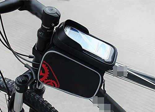 OGTOP Mountainbike-Handy Touch-Screen-wasserdichte Fronttasche Satteltasche Reitzubehör 1