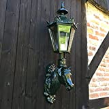 Antikas - Aussenlampe Pferdestall, Aussenleuchte Gartenlampe Pferdekopf, Pferde Lampe