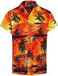 c088906f Red Star Mens Hawaiian Shirt Short Sleeve STAG Beach Holiday Aloha Summer Fancy  Dress Hawaii