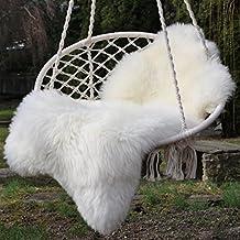 Piel de cordero en blanco 90-100 cm
