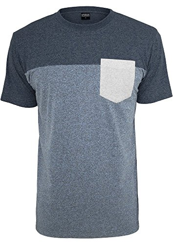 Urban Classics T-Shirt 3-Tone Melange Pocket Tee blue ,navy, grey