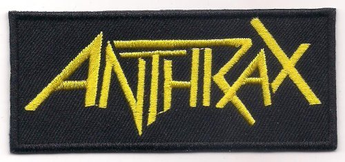 ANTHRAX (American thrash metal gold logo patch) 10x4.3 Cm Iron on Patch / Embroidered Patch This Appliques Are Great for T-shirt, Hat, Jean ,Jacket, Backpacks. by Mocking Jayy