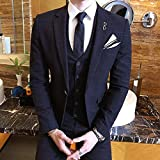 GFRBJK Gentleman Vintage Suit Pinstripe Classico Decent Mens Suit Wedding Groom Party Banchetto Costumi Homme Slim Fit Rosso Grigio, Nero, Xxl
