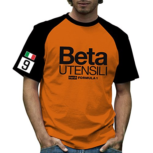Retro Formula 1 Historic March Beta Grand Prix contrast T-Shirt