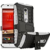 Chevron Shock Absorption Hybrid Armor Protection Defender Back Cover Case For Motorola Moto X Style (White) best price on Amazon @ Rs. 99
