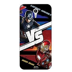Hamee Marvel Civil War Captain America Iron Man Licensed Hard Back Case Cover For Coolpad Mega 2.5 D Cover - Design 20