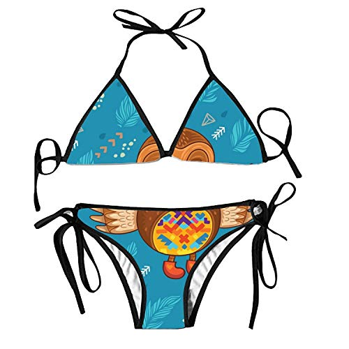 Womens Swimsuits High Waisted Two Piece Bathing Suits Sexy Tie Knot Front Pineapple Bikini -