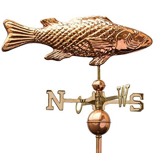 Linneborn Kupfer Wetterfahne Fisch / Karpfen Große Wetterfahne für Hausdach und Garten