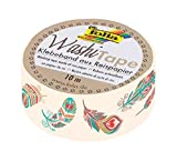 folia 26072 - Washi Tape, Federn, ca. 10 m x 15 mm