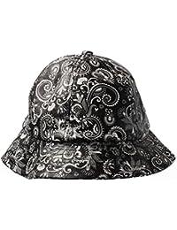 Accessoryo - Gorro de pescador - Sombrero del cubo - Paisley - para mujer Negro blanco y negro Talla única
