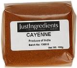 JustIngredients Essential Piment de Cayenne (Cayenne Pepper) 100g - Lot de 5