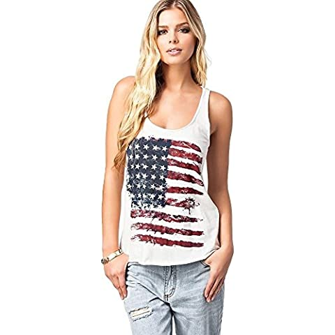 U Neck The US American Flag Modello
