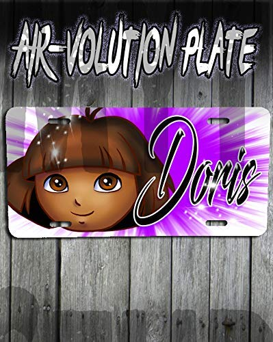 onalisierte Airbrush Dora License Plate Tag ()