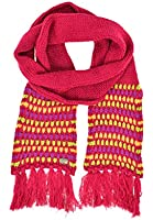 Döll Girl's Schal Strick Striped Scarf, Pink (Bright Rose 2059), One Size