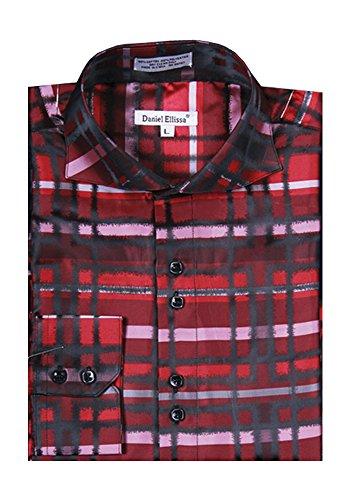 Sunrise Outlet Men's Trendsetting Fancy Dress Shirt Red
