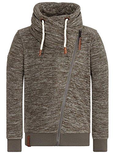 Naketano Male Zipped Jacket Gnadenlos durchgerattert II dark olive melange