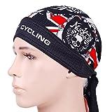 Nuckily Outdoor Sports Apparel Fahrradtrikot Fahrrad Pirat Stil Schal, damen, schwarz