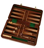 Fair Trade Wooden Folding Backgammon Set by Purity
