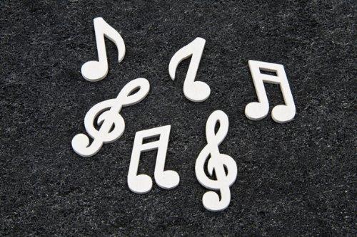 Streudeko-Mini-Noten-Notenschlssel-in-weiss-fr-Musiker-Musikfans-Inhalt-24-Stck-pro-Verpackungseinheit
