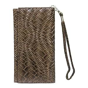 Jo Jo A5 Bali Leather Wallet Universal Pouch Cover Case ForMeizu MX5E Brown