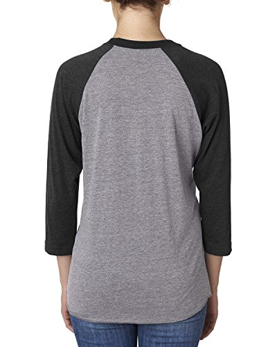 Next Level Damen Lamarmshirt Mehrfarbig - Vintage Black/Premium Heather