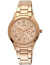 Timex Analog Gold Dial Women's Watch-TW000Q810