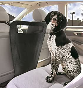 auto pet barrier blocks dogs access to car front seats keep dogs in back seat. Black Bedroom Furniture Sets. Home Design Ideas