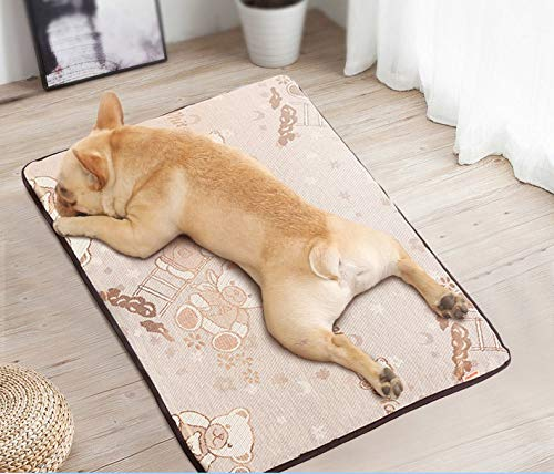 JIXIAN Home Katzen- und Hundekühlmatte - quadratisches Bärenmuster Pet Ice Pad * 1 Stück ungiftige, haltbare Pet Cooling Mat Matratze für Katzen im heißen Sommer (Mat Quadratisches Bild)