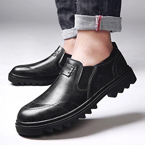 Yiiquan Homme Automne Hiver Conduire Voiture Glisser Sur Confort PU Cuir Mocassins Formelles Chaussures Noir