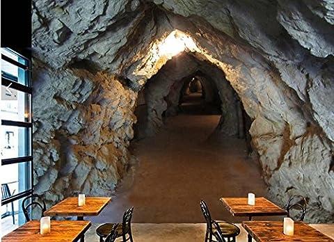 Chlwx Foto Cave Tunnel Stein 3D C Grosses Wohnzimmer Sofa