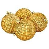 M&A Weinachtskugeln Box 6er Pack jede Bestellung enthält 2 Pack Durchmesser 8 cm, Gelb