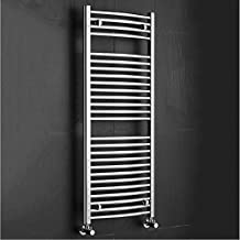 Milano Hudson Reed Radiador Calentador Toallero Para Baño Diseño Curvo - Acero Cromado - 1200mm x
