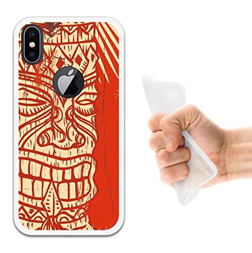 iPhone X Hülle, WoowCase Handyhülle Silikon für [ iPhone X ] Regenbogen Eule Handytasche Handy Cover Case Schutzhülle Flexible TPU - Transparent Housse Gel iPhone X Transparent D0210