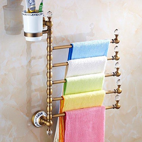 serviette de style européen /Porte-serviette en laiton massif/[Porte-serviettes]/ Antique porte-serviette activités rotatif / Verre de brosse à dents porte-serviettes -M