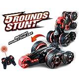 Toyhouse 6Ch Remote Control Stunt Car, Red