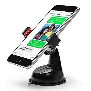 Power Theory Handyhalter fürs Auto - Gratis 3M Klebepad Handyhalterung Armaturenbrett Halterung für iPhone XS Max X 8 7 Plus 6s 6 SE 5s Samsung Galaxy S9 S8 S7 Edge S6 und alle Smartphones (Schwarz)