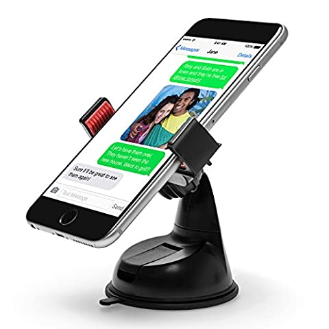 Power Theory Universal Handy Halter - Gratis 3M Klebepad KFZ Armaturenbrett Handyhalterung Auto Halterung für iPhone X 8 7 plus 6s 6 SE 5 5s Samsung Galaxy S8 S7 Edge S6 S5 LG HTC und alle Smartphones (Schwarz)