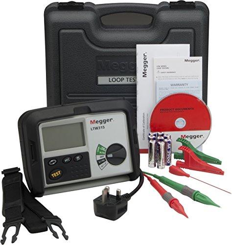 Megger LTW315-EU-SC Schleifenmessgerät, Schleifenmessung in RCD-Stromkreisen ohne Auslösung, 2-Leiter, Anzeigebereich Ik bis 20 kA