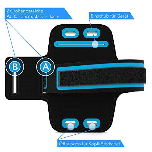EAZY CASE Sport Armband, Fitness Armband Schweißbeständig Weich für Laufen, Bergsteigen, geeignet für alle Smartphones bis 5.5 Zoll wie Apple iPhone 7 Plus, Samsung Galaxy S7 Edge und mehr in Weiß - 3