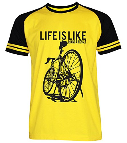 PALLAS Unisex's Cycling Life Is Like Riding A Bicycle YellowBlack